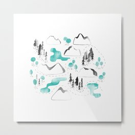 Outdoor map Metal Print