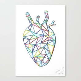 Yara's Stained Glass Heart Canvas Print