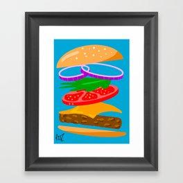 Hamburger Print Framed Art Print