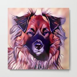 The Eurasian Dog Metal Print