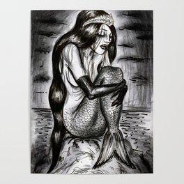Black Mermaid Poster