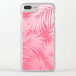 Palm Tree Fronds c'est parfait on pink Hawaii Tropical Décor Clear iPhone Case