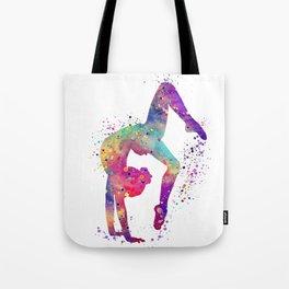 Girl Gymnastics Tumbling Watercolor Tote Bag