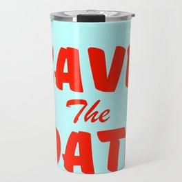 Save the Date vintage american Diner Travel Mug