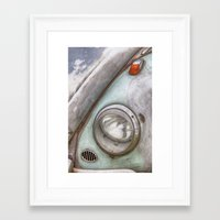 vw Framed Art Prints featuring VW Beetle by David Turner