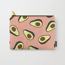 Avocado Pattern in Pink Carry-All Pouch