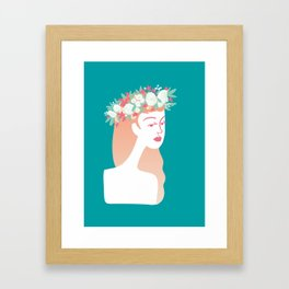 Couronne blanche Framed Art Print