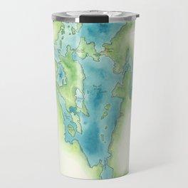 Go Home Lake - Nature Map Travel Mug