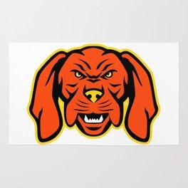 Hungarian Vizsla Dog Mascot Angry Rug