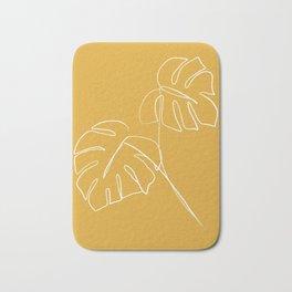 Monstera minimal - yellow Bath Mat