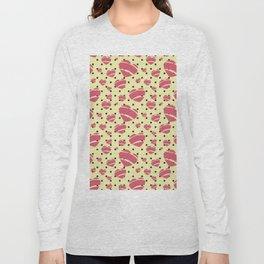 Bright Romantic Retro Heart by Jezli Pacheco Long Sleeve T-shirt