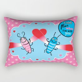 Lovebugs - Time flies when I'm with you Rectangular Pillow