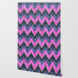 Pena Chevron Blue Wallpaper