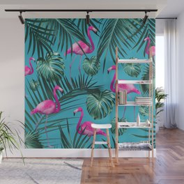 Tropical Flamingo Pattern #4 #tropical #decor #art #society6 Wall Mural
