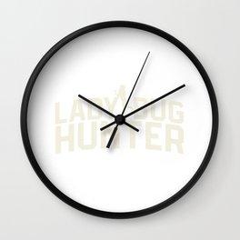 Lady bug hunter insect hunter woman nature gift Wall Clock