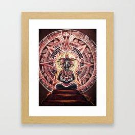 Mayan Cacao God Framed Art Print