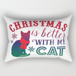Christmas is Better with My Cat Rectangular Pillow