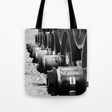 Rail Wheel Tote Bag