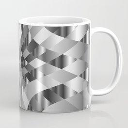 Silver metal background chrome texture Coffee Mug