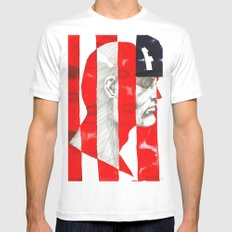 Oh, Captain. My Captain. White MEDIUM Mens Fitted Tee