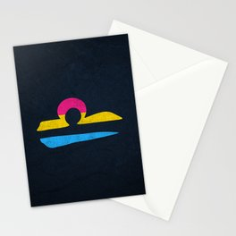 Pansexual Pride Flag Libra Zodiac Sign Stationery Cards