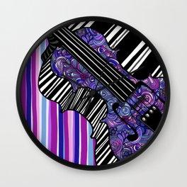 Study in the key of Purple - cello Wall Clock