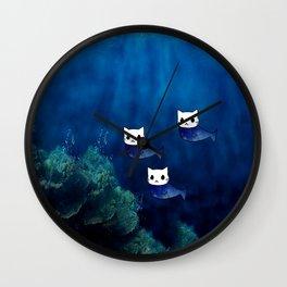 Cats Mermaid 60 Wall Clock