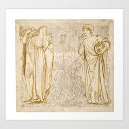 "Edward Burne-Jones ""Chaucer's 'Legend of Good Women' - Hypsiphile And Medea"" Art Print"
