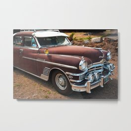 Classic Car Vintage Automobile American Auto Mechanic Rusty Northwest Metal Print