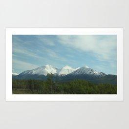 Snowy Mountains  Art Print