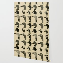 Vintage Duck Heads Wallpaper