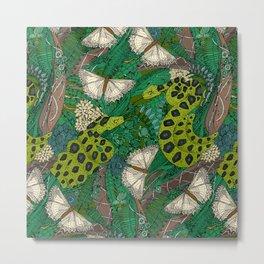 entangled forest green Metal Print