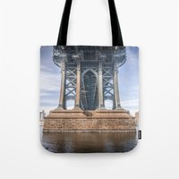 dumbo Tote Bags featuring DUMBO by MikeMartelli