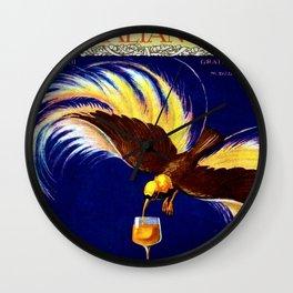 Vintage Cinzano Italian Vermouth Aperitif Advertisement Poster Wall Clock