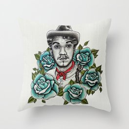 "Mario Moreno ""Cantinflas"" Portrait Throw Pillow"