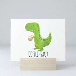 Coffee-saur Mini Art Print