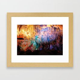Rainbow Cavern Framed Art Print