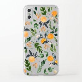 Orange Grove Clear iPhone Case