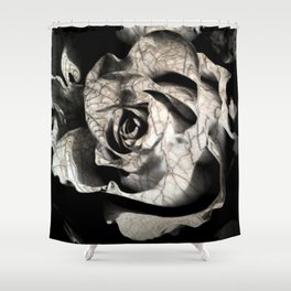 Rose forming from light and shadows Shower Curtain