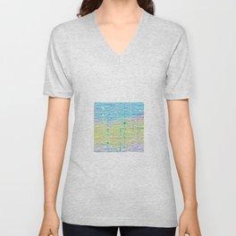 Multi Pastel Quilted Pattern Design Unisex V-Neck
