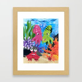 Squid Lovin' Framed Art Print