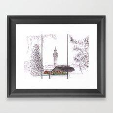 Florence Garden Drawing Framed Art Print