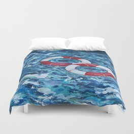 Two Lifesavers Duvet Cover