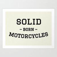 solid Art Prints featuring Solid by Born Motor Co.