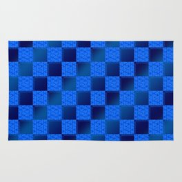 Funky Check (Waterworld) Rug
