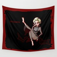 ahs Wall Tapestries featuring The Countess by IGGY PROOF