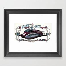 Death is dead Framed Art Print