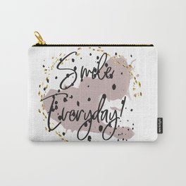 Smile everyday! Concept quotes Carry-All Pouch