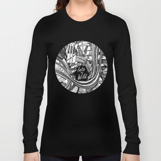 Into The Wild (b&w version) Long Sleeve T-shirt