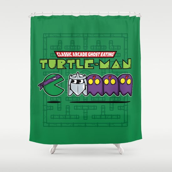 Hero in a Pac-Shell (Donnie) Shower Curtain